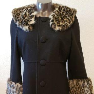 Wool blend coat knee length